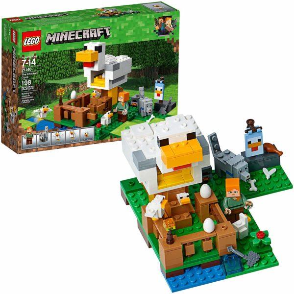 minecraft lego chicken set