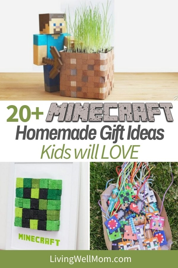 DIY minecraft gift ideas