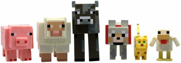 Minecraft animal toys cow sheep dog