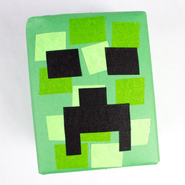 diy minecraft creeper gift craft