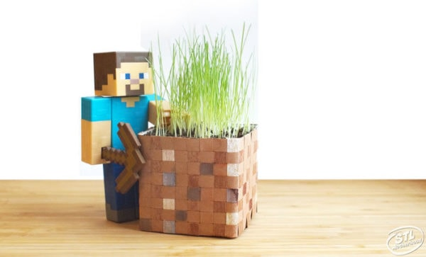 homemade minecraft grass block craft