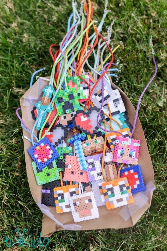 minecraft bead art craft