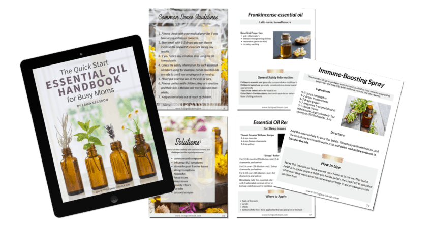 tablet quick start essential oil handbook with pages