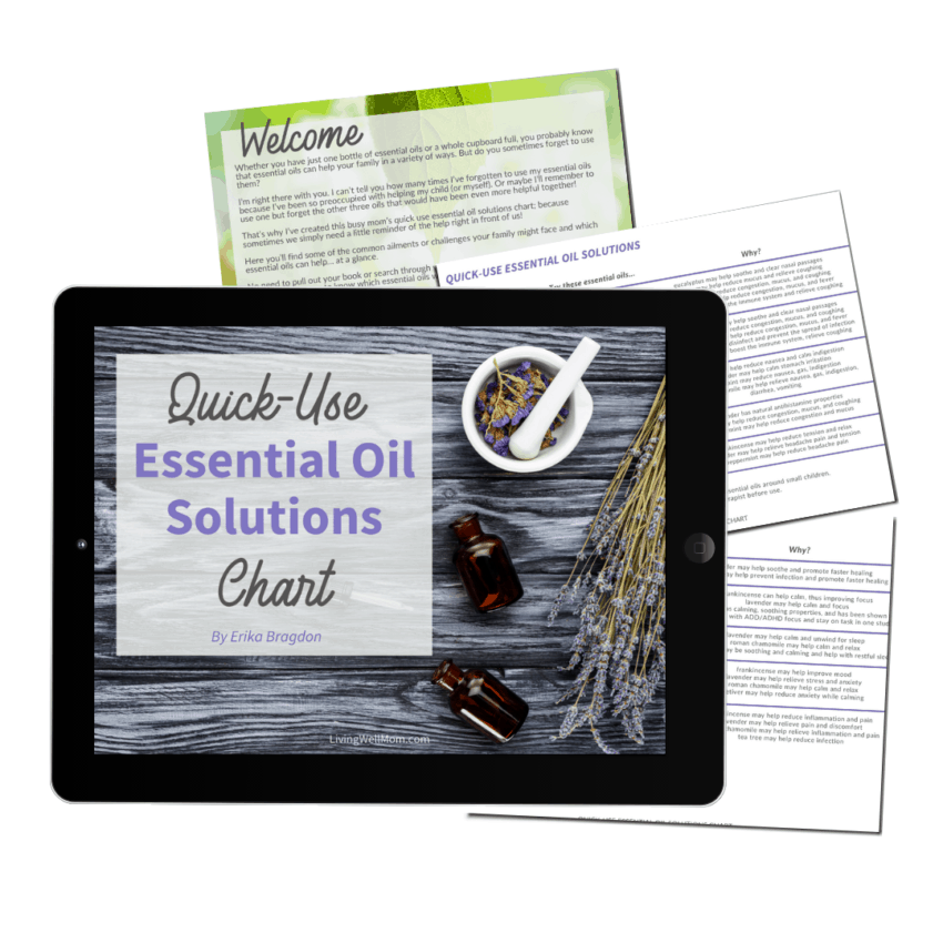 ipad with essential oil quick use solutions chart