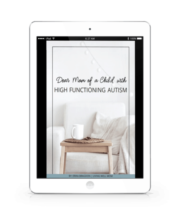 ipad with ebook dear mom of a child with high functioning autism