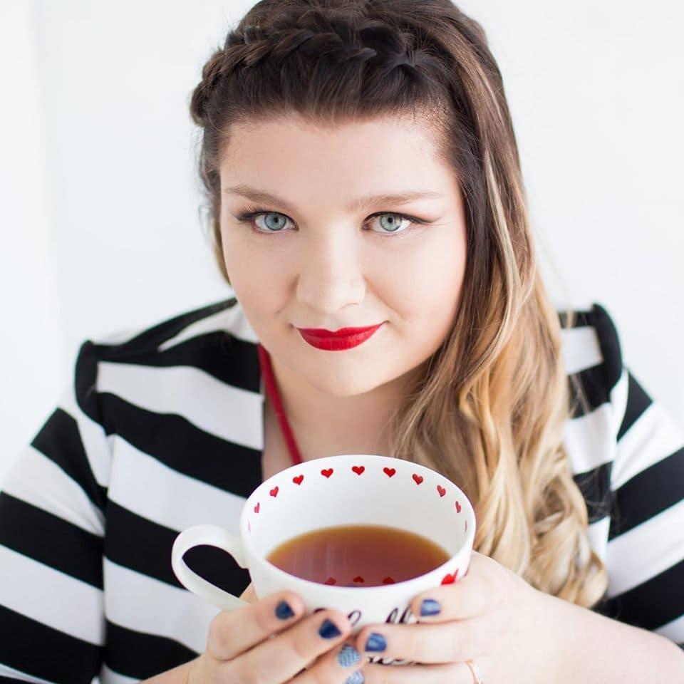 professional woman drinking tea