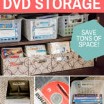easy DIY DVD storage idea