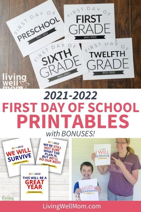 collection of first day of school signs for 2021-2022 year