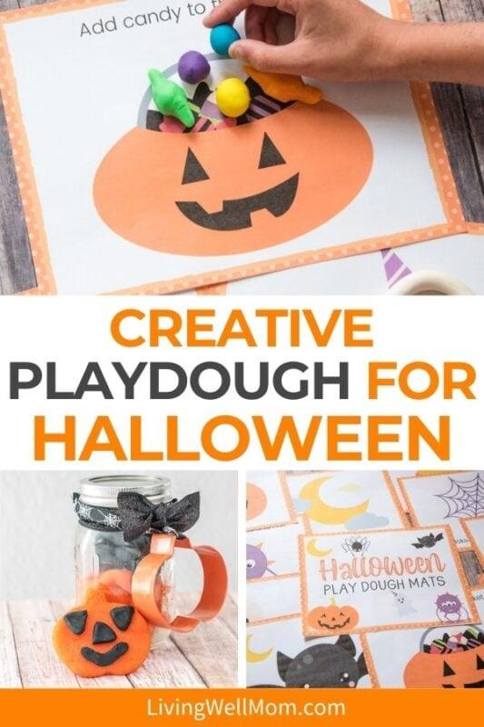 Creative play dough for Halloween pinterest image