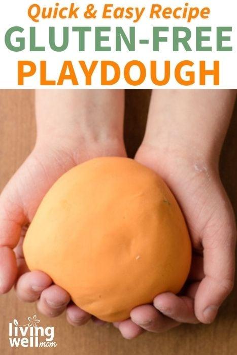 image of homemade orange gluten-free playdough