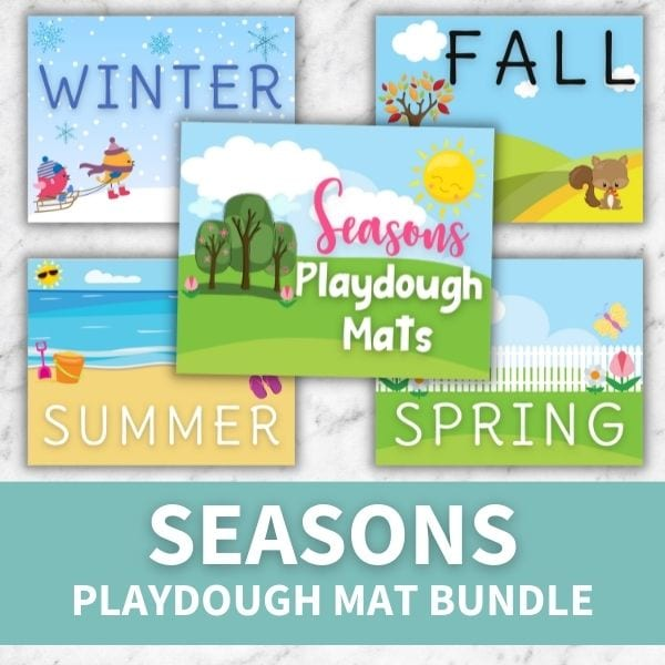 layout of printable seasons playdough mats