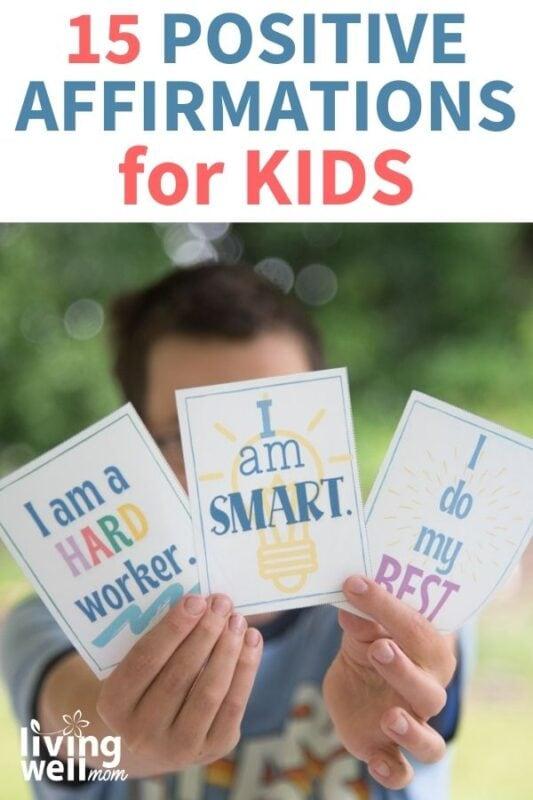 pinterest image for 15 positive affirmations for kids