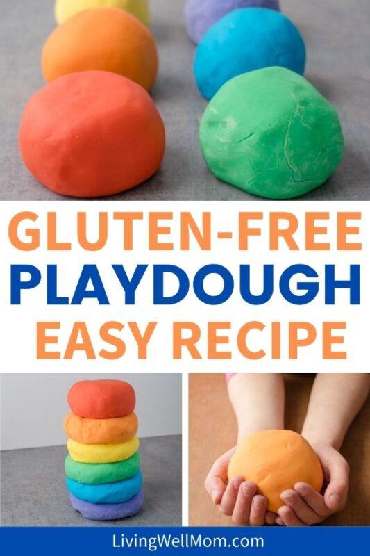 pinterest image for gluten-free playdough easy recipe