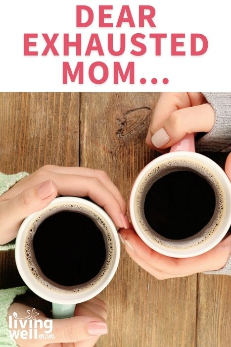 pinterest image for open letter to exhausted moms
