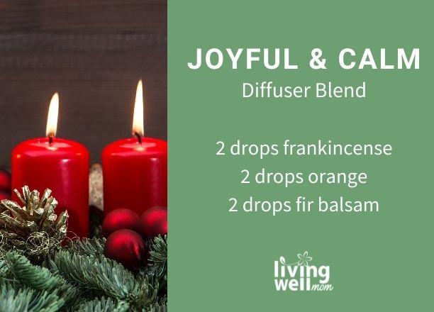 joyful and calm diffuser blend recipe card