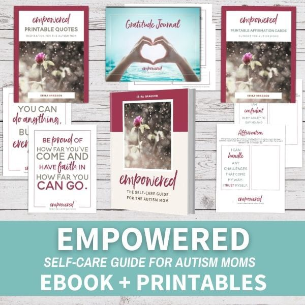 Printable images with encouraging quotes for moms from Empowered e-book
