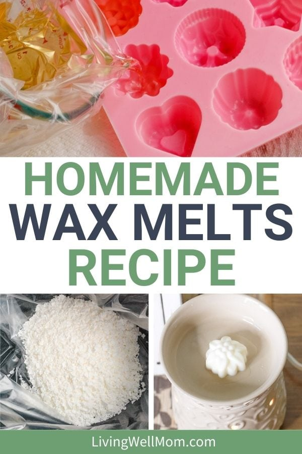 collage of steps for how to make scented wax melts