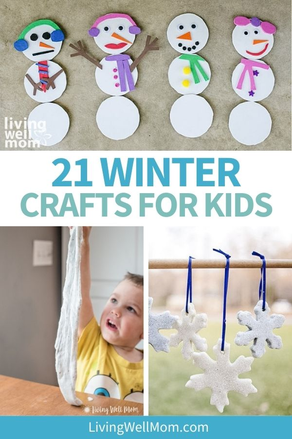 collage of winter craft ideas