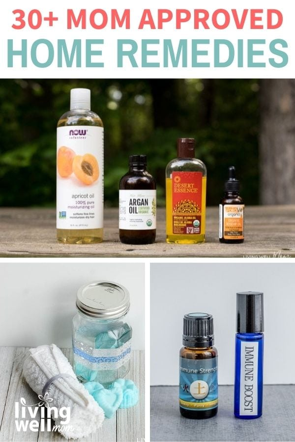 collage of different essential oil products