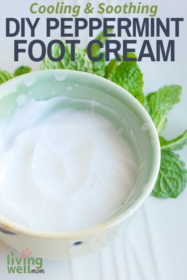 homemade peppermint foot cream