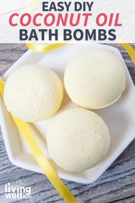 bath bombs with a yellow ribbon