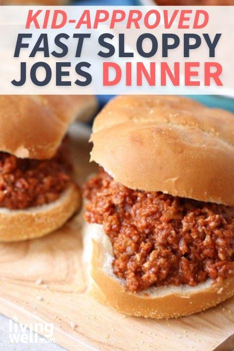 2 sloppy joe sandwiches on buns