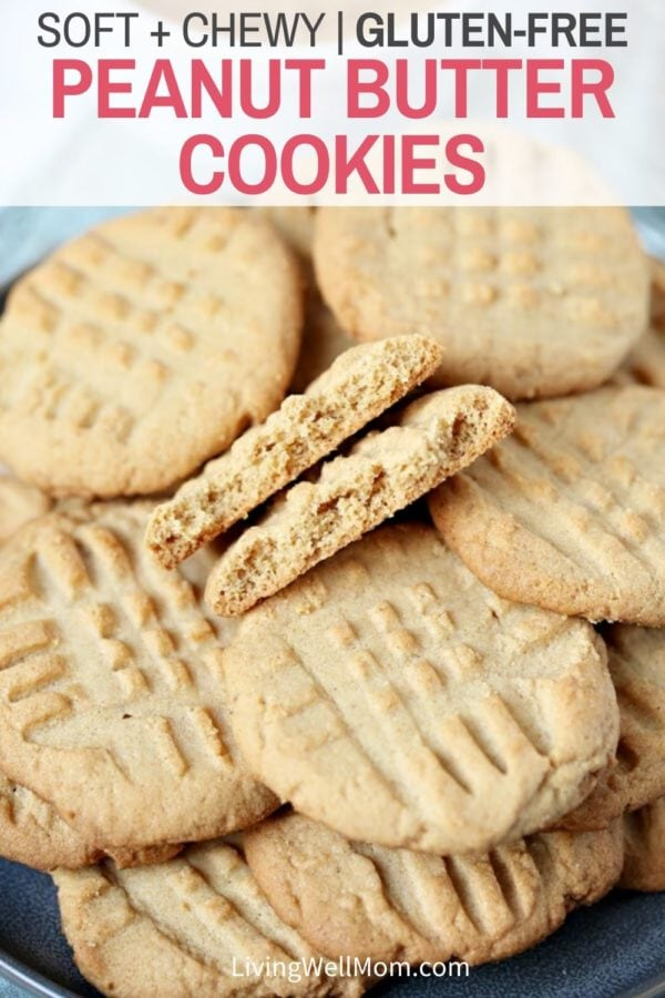 Pinterest graphic for GF peanut butter cookies