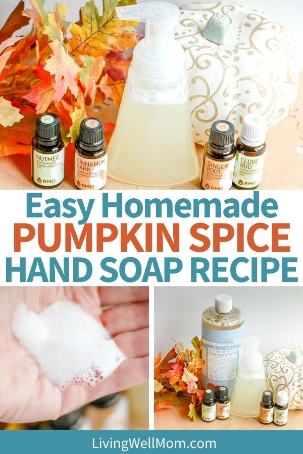 DIY foaming hand soap made with essential oils