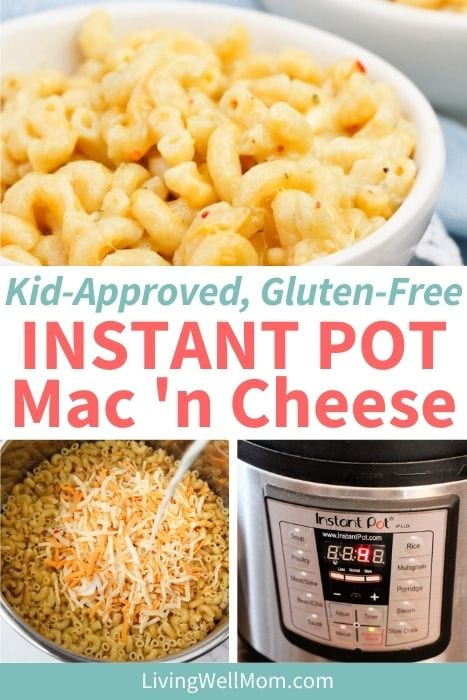 Recipe for Homemade Gluten-Free Instant Pot Mac and Cheese.