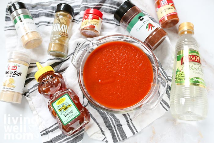 ingredients for homemade taco sauce