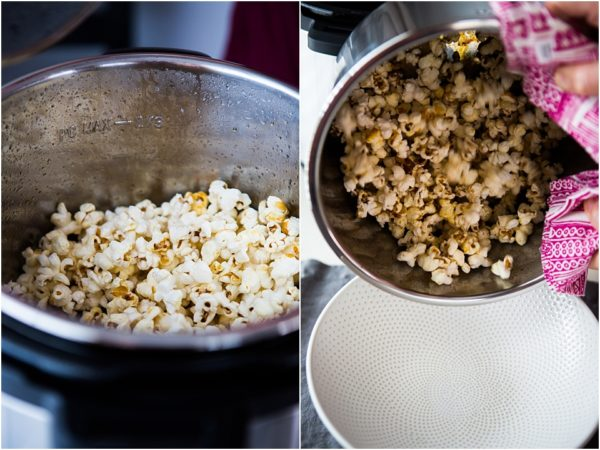 kettle corn popcorn cooked in instant pot