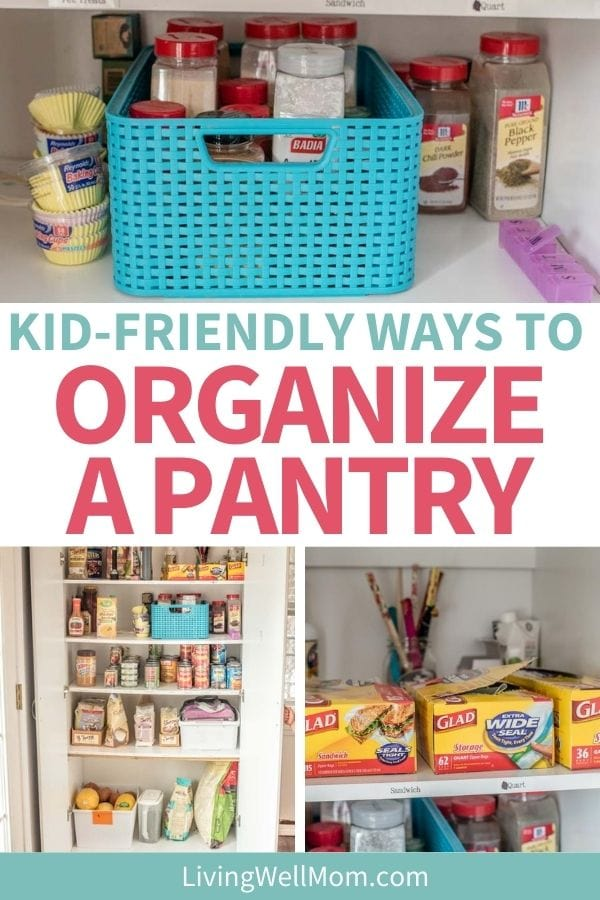 organizing pantry with baskets