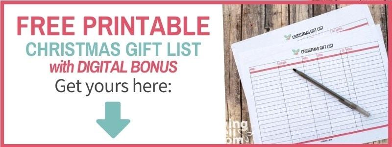 signup form christmas gift list
