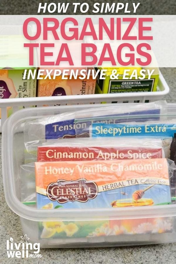 visual for how to organize tea