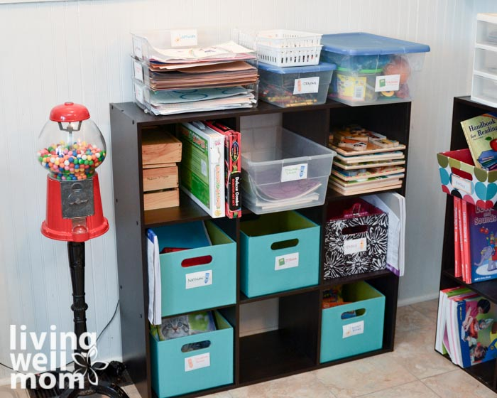 9 cube organization system for kids crafts