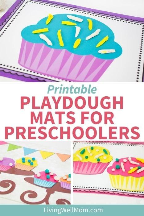 collection of photos for printable playdough mats for preschoolers