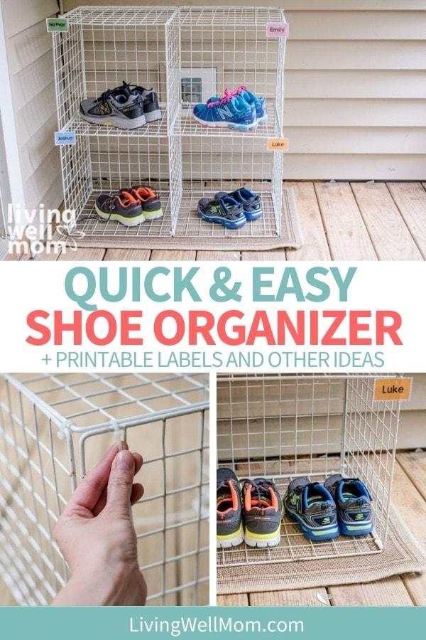 diy kids shoe organizer