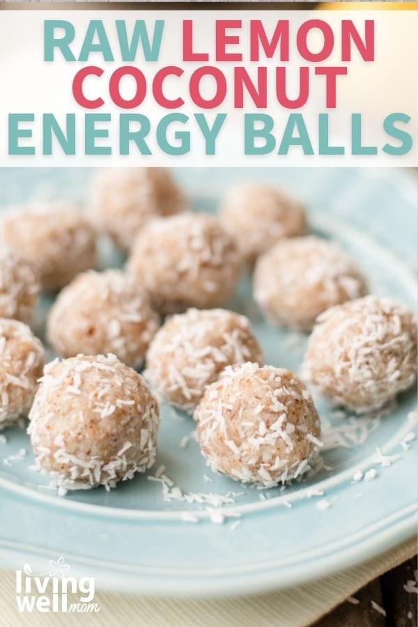 Raw lemon coconut energy balls