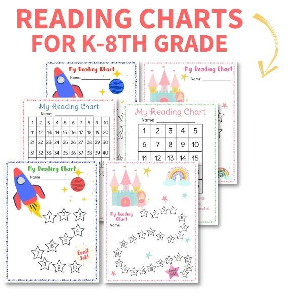 free reading chart printable
