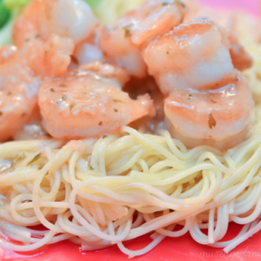 shrimp scampi with Campbell's dinner