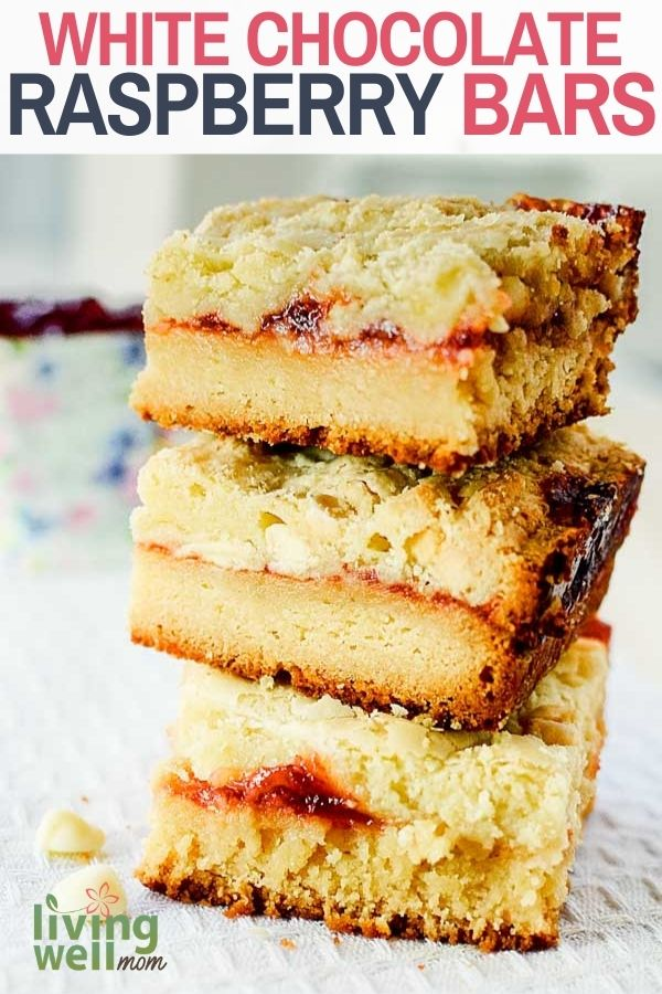 stack of raspberry bars