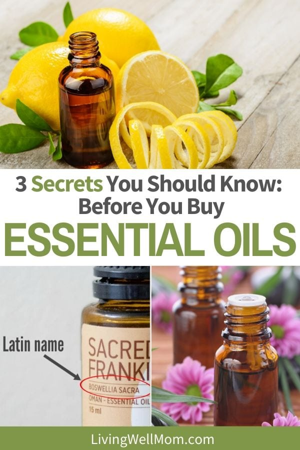 Pinterest graphic for how to buy the best essential oils