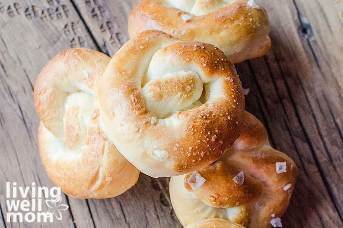 homemade soft pretzels freshly baked