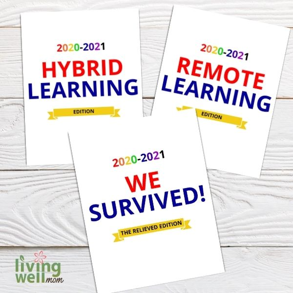 hybrid learning, remote learning, we survived printable pages