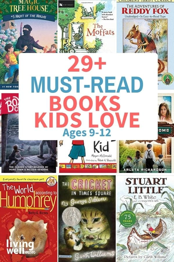 collection of must-read books for kids ages 9-12