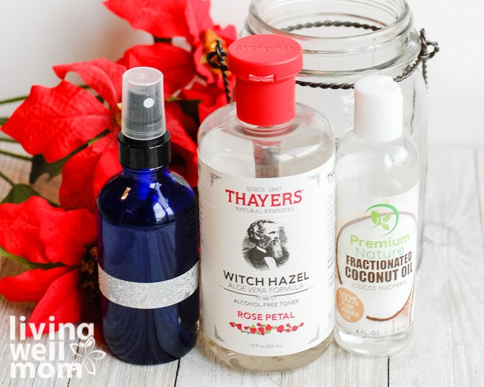 Ingredients for an essential oil room spray