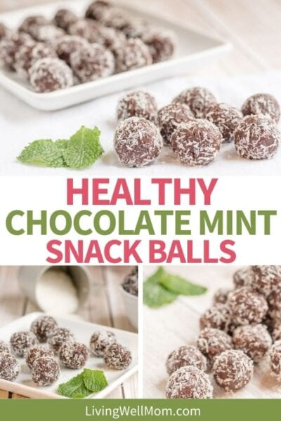 healthy chocolate peppermint snack balls