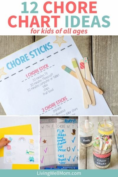 collection of homemade chore chart ideas for kids