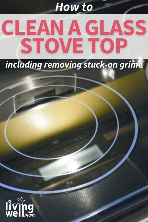sparkling clean glass stove top