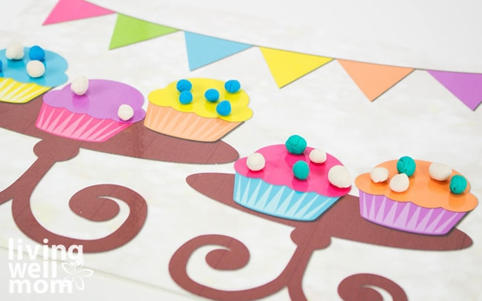 play doh mats for preschoolers with cupcake decorating fun